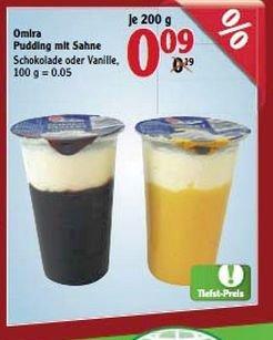 [GLOBUS MAINTAL] Schoko-/Vanille-Pudding mit Sahne für 0,09€/Stück