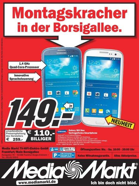 (Lokal) Samsung Galaxy S3 Neo Weiß und Blau@Mediamarkt Borsigallee 39,Frankfurt