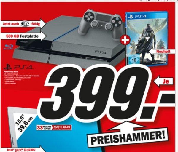 [ AACHEN - Saturn+MediaMarkt ] PS4 + 500GB FP + DESTINY für 399,00