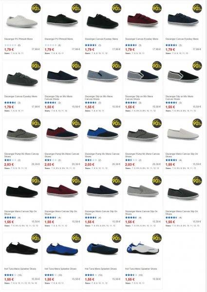 [sportsdirect.com] Schuhe / Badelatschen für 1,55-2,03 EUR + 5,99 EUR Versand nach DEU