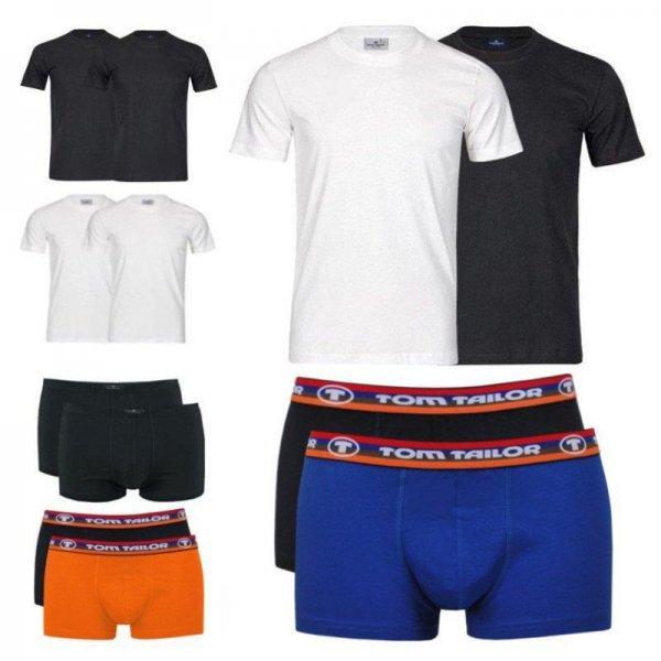 ebay WOW: Tom Tailor 4er Pack T-Shirts oder Boxershorts verschiedene Modelle und Farben 22,90€