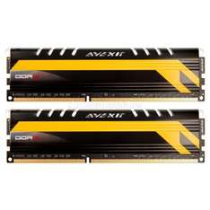 Avexir Core Series MPOWER, gelbe LED, DDR3-1600, CL10 - 16 GB Kit