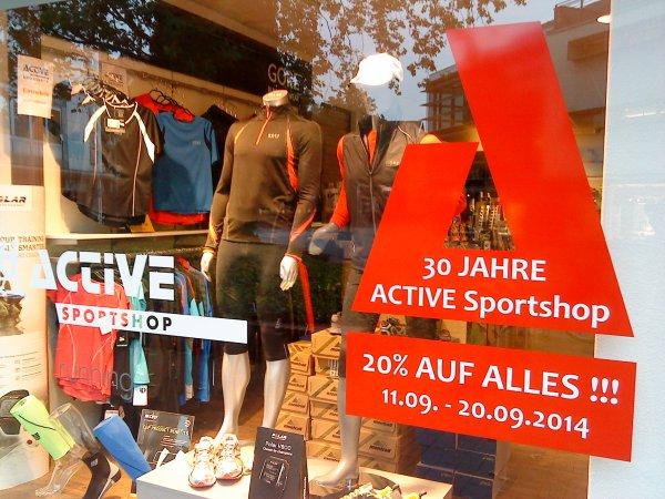 [lokal Bielefeld/Gütersloh/Herford] 20% auf alles bis 20.09. beim Active Sportshop