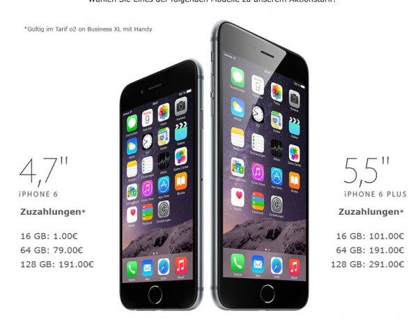 O2 Allnet XL 10GB LTE für rechnerisch 39,95/netto inkl. iPhone 6