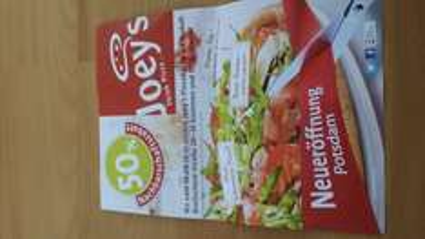 (Lokal Potsdam) Joey's Pizza 50% Nachbarschaftsrabatt