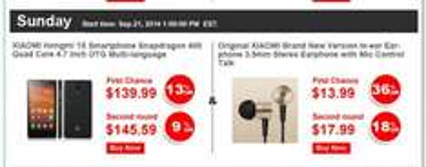 Original Xiaomi  Piston V.2.0 In Ear Kopfhörer am 21.9.14 für 11€