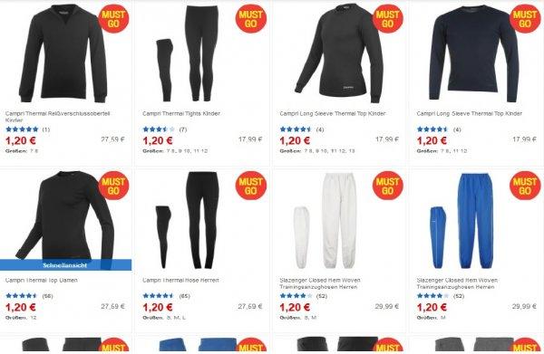 Diverse Sport-Marken Oberteile und Hosen für jeweils 1,20€ + 2,99€ VSK @Sportsdirect