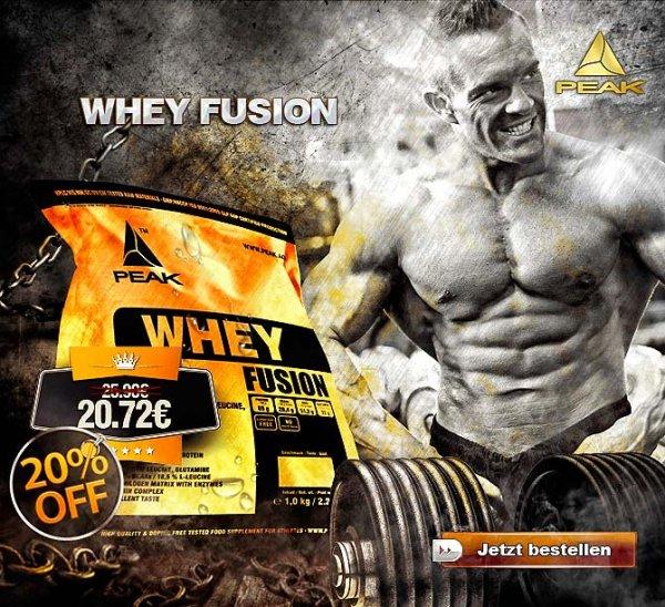 20% auf Peak Whey Fusion Protein