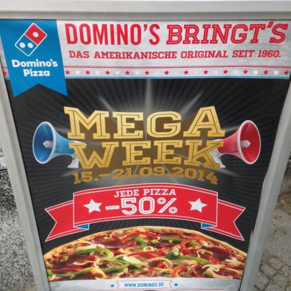 Mega Week (50% auf alle Pizzen) bei Berliner Domino's und Online