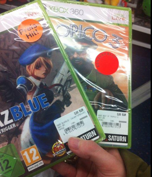 [lokal Essen] Saturn Limbecker Platz: BlazBlue Calamity Trigger und Tropico 3 für Xbox360 je 3€
