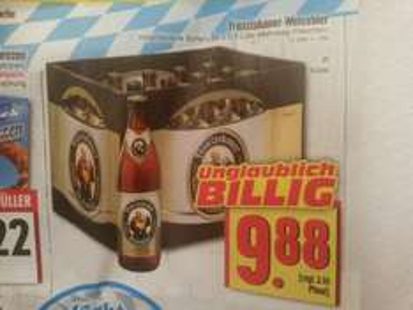 Franziskaner Weißbier für nur 9,88€ pro 20er Kiste [Lokal Edeka Hessenring] (zzgl. 3,10€ Pfand)