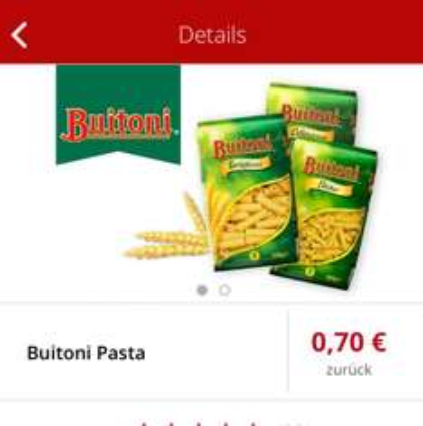 [REWE] 1x Buitoni Pasta für +0.01€ - Scondoo