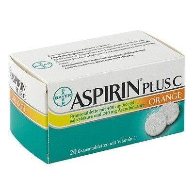 Aspirin plus C - Orange - 20 Tabletten - kurzes Haltbarkeitsdatum (02/15)
