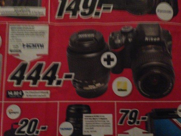 Spiegelreflexkamera Nikon D 3200 + Nikon Objektive 18-55II+55-200
