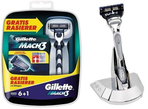 [07751/66424/66679] Gillette Mach3 Rasierer + 8 Klingen für 13,99€ @Globus