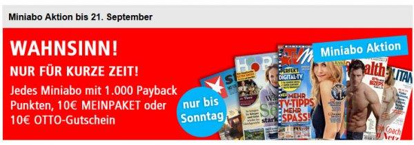 [online] Leserservice MiniAbo mit 1.000Payback-Punkten, 10€ MeinPaket oder Otto-Gutschein - Gewinn möglich