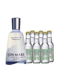 Mare Gin + 6 Flaschen Elderflower Tonic Water für 37,90€