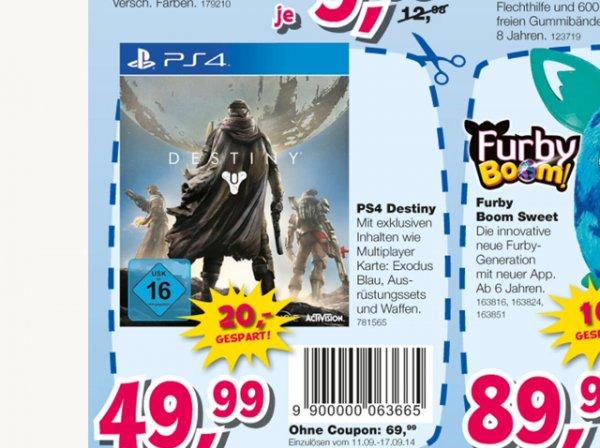 Destiny für die PS4 nur 49€ @Toysurus