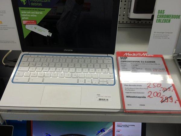 [Lokal MM Bremen/Stuhr] Chromebooks von HP/Samsung ab 200,-