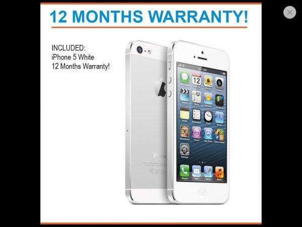 "Iphone 5, refurbished, ""good condition"", 12 Monate Garantie"