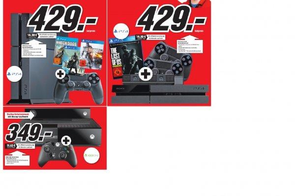 Playstation 4 +3 Spiele Oder Playstation 4 + Kamera, 2 Kontroller und 1 Spiel Oder Xbox one + Kinect und Kontroller