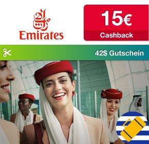 Emirates/Qipu: 15 Euro Cashback + kostenloser Loungebesuch in Dubai (Wert: 42$)