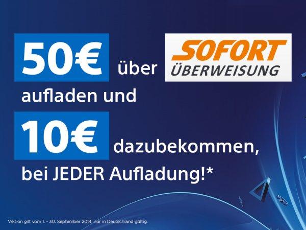 """PSN 60 € Guthaben für 50 € (via """"SOFORT Überweisung"""")"""