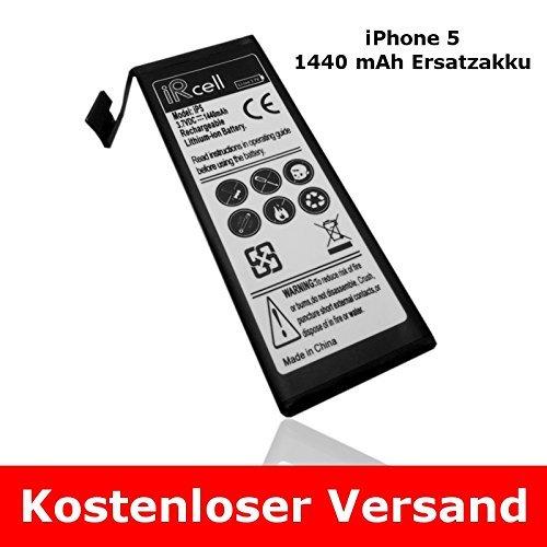 Ersatzakku für iPhone 5 1440 mAh nur 4,90€ inkl. Versandkosten (Amazon)
