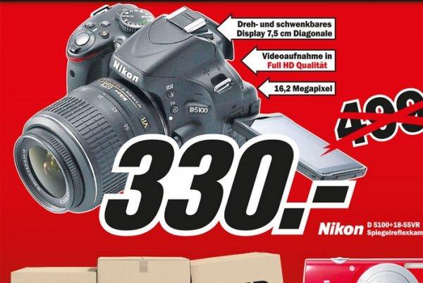 Nikon D5100 18-55mm VR für 330€ und weitere Angebote Lokal @ Mediamarkt Köln & Bonn