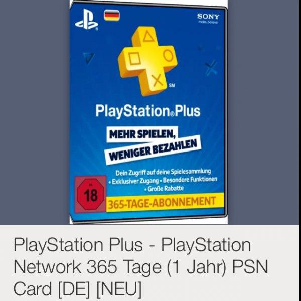 PSN Plus 365 Tage