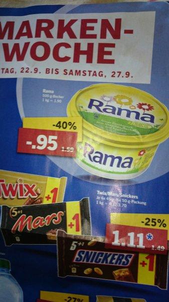 Twix,Mars,Snicker 5 Plus 1 bei Lidl für 1.11 euro ab 22.09 bis 27.09.