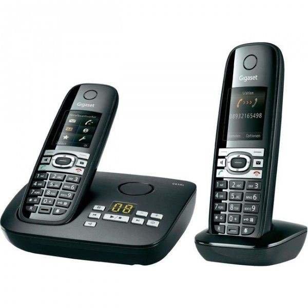 Gigaset C610A Duo schnurlose Telefon mit Anrufbeantworter & ECO DECT schwarz