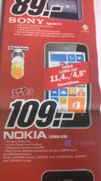 (Lokal Aschaffenburg) Nokia Lumia 630 Dual Sim für 109€