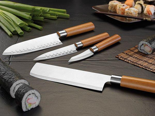 Küchenmesser-Set 4-tlg. Edelstahl, TokioKitchenWare PEARL-Edition GRATIS !!!