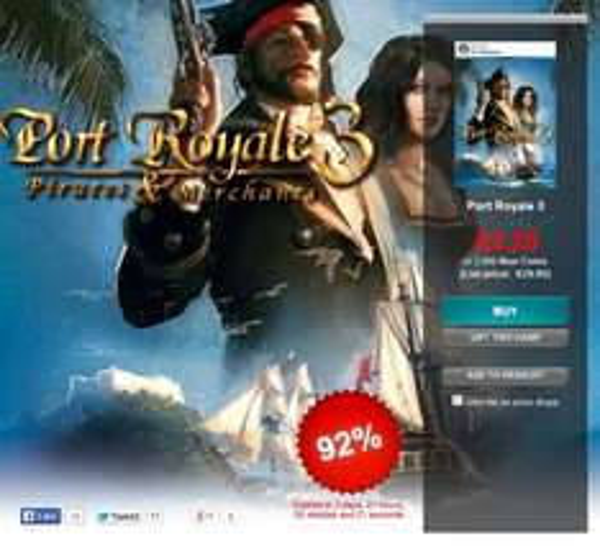 [Steam] Port Royale 3 @ Gamersgate