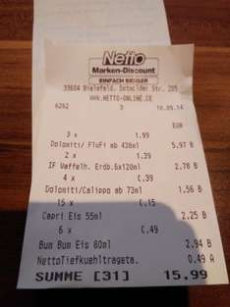 [Lokal] Netto Bielefeld detmolder str. + Aachen Eis extrem günstig!