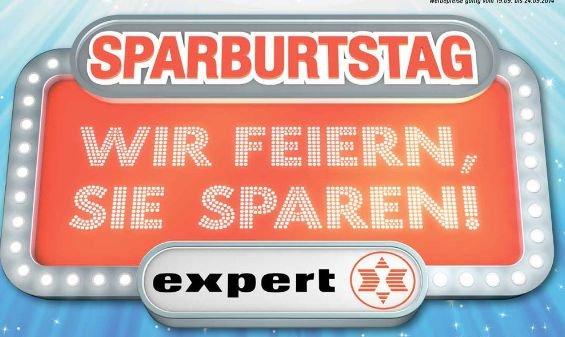 (Lokal) Sparburtstag in  20 Expert Fachmärkten  ( nicht Bening,Döring etc.) ab heute 19.09.2014