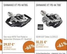 Shimano PD-M785 Deore XT Trail SPD Pedale für 29,37€ + 3,95€ Versand bei Canyon