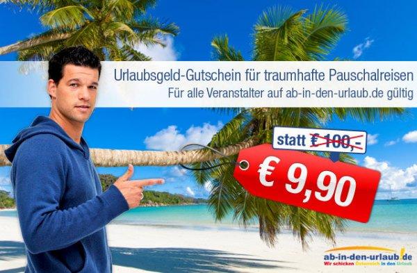 100€ AbindenUrlaub.de Gutschein für 9,90€ und nur 100€ MBW