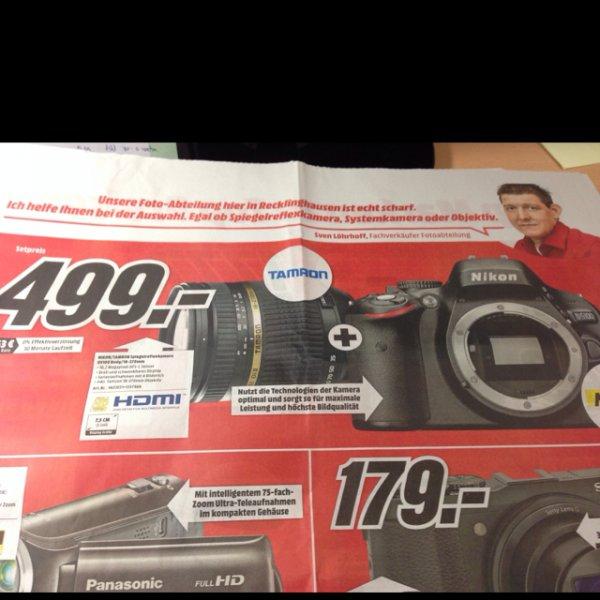 [Media Markt] Nikon D5100 inkl. Tamron 18-270mm Objektiv mit Bildstabilisator / Lokal in Recklinghausen