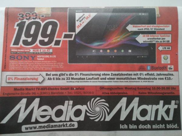 (MM Bielefeld / lokal?) Sony Xperia Tablet Z SGP321 WI-FI + 4G/LTE 16GB