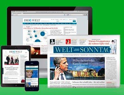 Welt Digital Plus (lesbar online, Smartphone, Tablet + Welt am Sonntag) für 89€ inkl. 8000 Miles and More Meilen