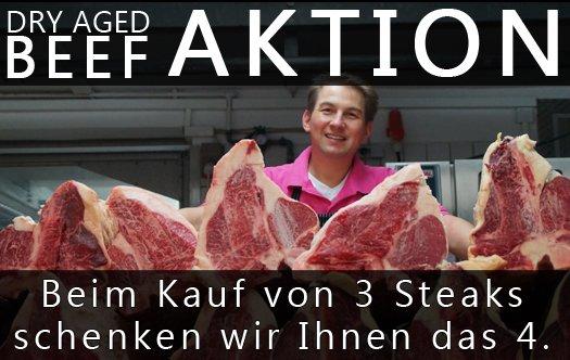 Dry Aged Beef 3 Steaks kaufen - das 4. umsonst