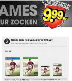 Gamestop 9,99 Aktion mit Fifa 15 (PS4, PS3, Xbox One, Xbox 360)