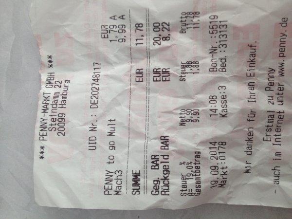 Gilette Mach3 Rasierklingen 6er Pack ca. 45% günstiger bei Penny (Lokal?) Steindamm Hamburg