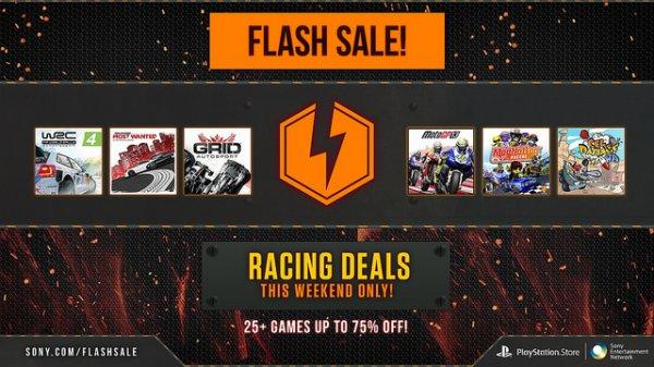 PSN Flash Sale (Bis zu 75% auf mehr als 25 Rennspiele)