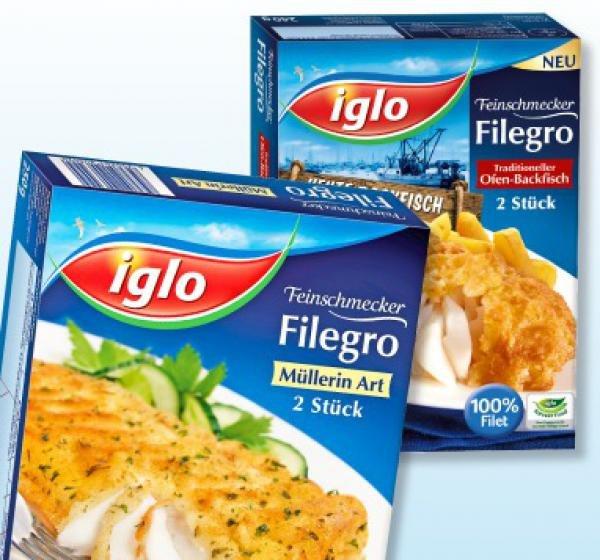 [NETTO SCOTTIE] 3x Iglo Filegro versch. Sorten 250g für 1,50€/Stück