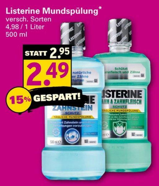 [NETTO SCOTTIE] Listerine versch. Sorten für 1,49€ max. 3 Stk. (Angebot + Scondoo) am Sa. 27.09.