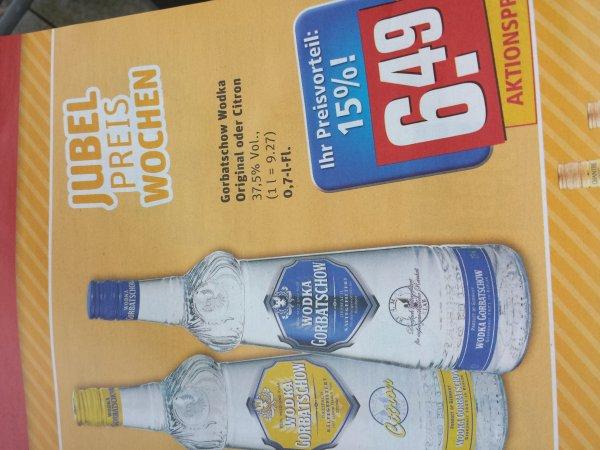 REWE [bundesweit?] Vodka Gorbatschow 0.7l ab Montag