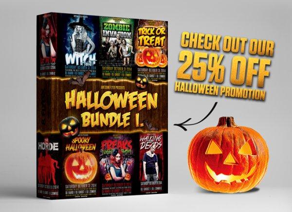 Halloween Flyer Bundle Vol.1 (PSD Vorlagen)